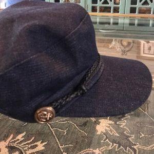Denim Baker Boy Hat NWOT